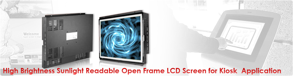 High Brightness Sunlight Readable Open Frame Lcd Screen For Kiosk Application